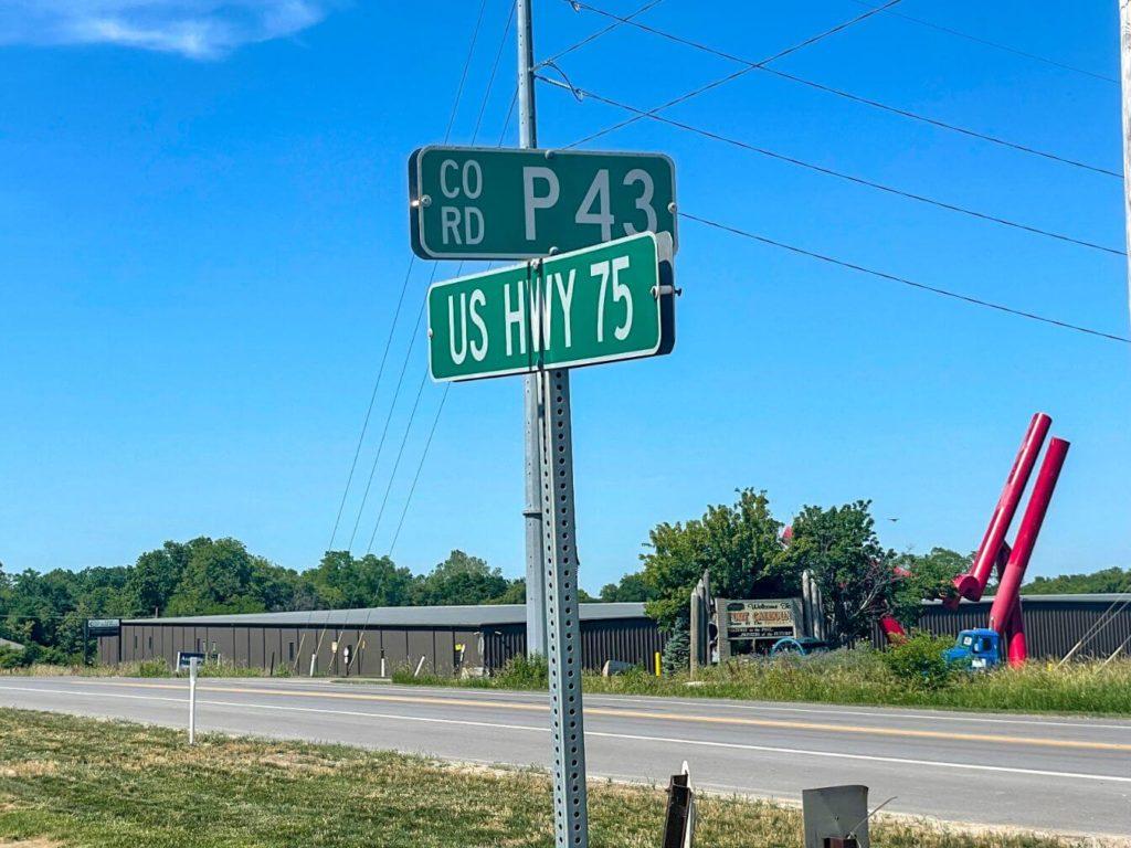 Highway 75 in Fort Calhoun, Nebraska