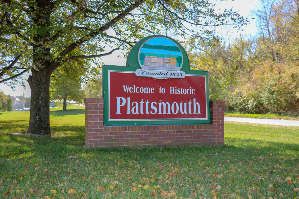 Plattsmouth, Nebraska Welcome Sign