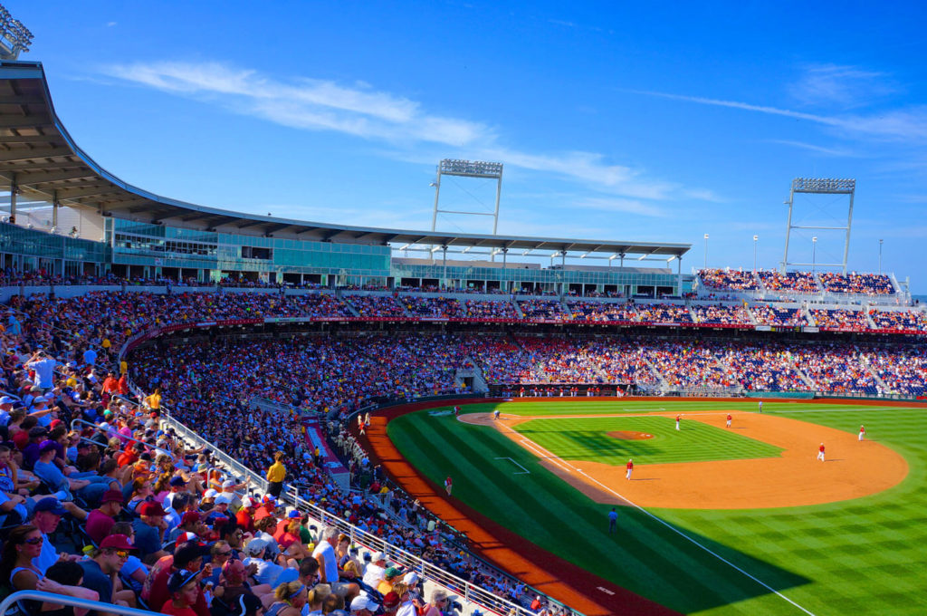TD Ameritrade Park in Dowtown Omaha - Home of the College World Series