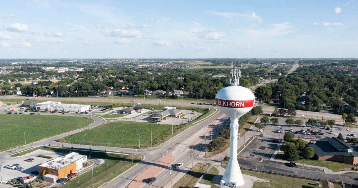 Aerial View of Elkhorn, Nebraska