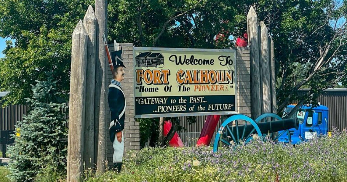 Fort Calhoun, Nebraska - Welcome Sign