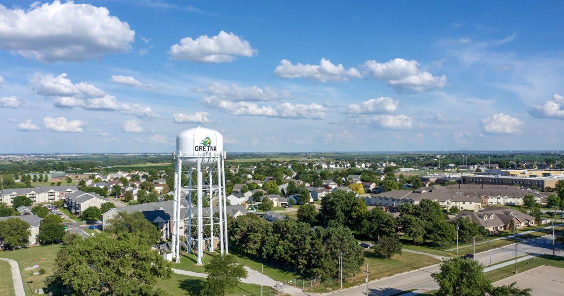 Aerial View of Gretna, Nebraska