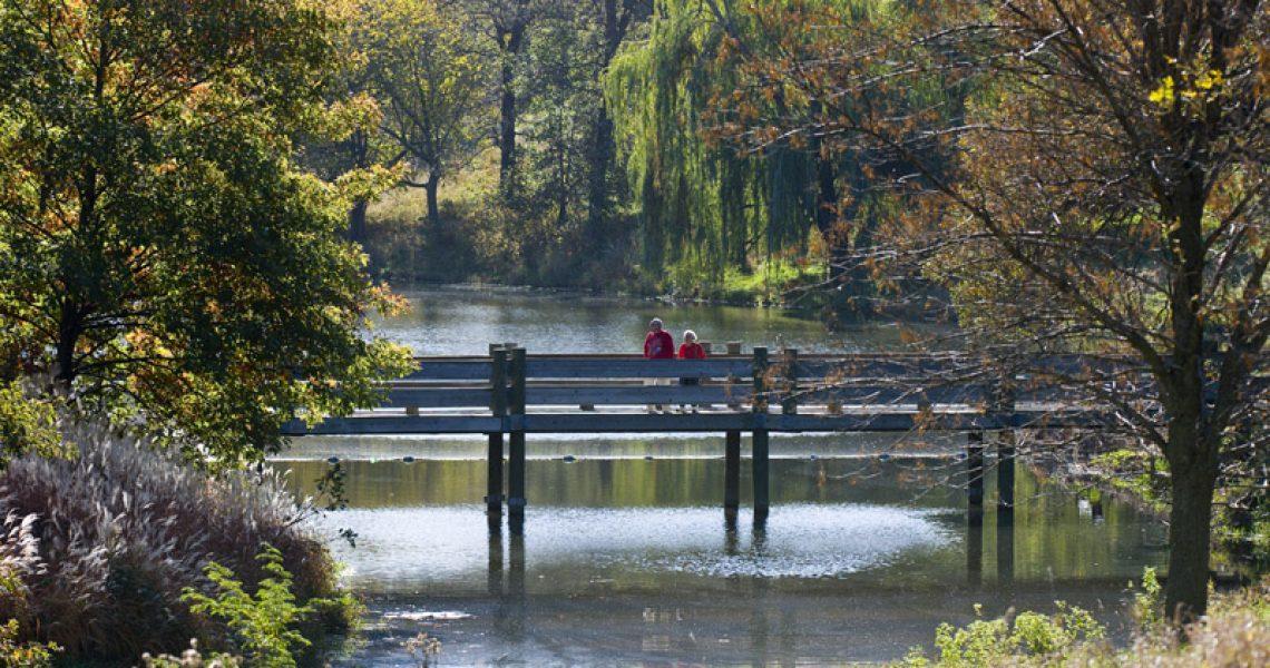 Eugene T. Mahoney SP.  Park Activities. walking. bridge.